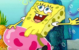 spongebob standing menacingly just he's there Bloodstained ritual of the night bunny morphosis
